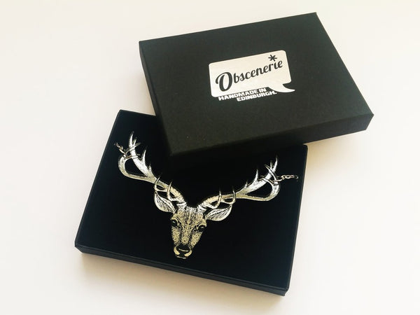 Stag Necklace - Silver