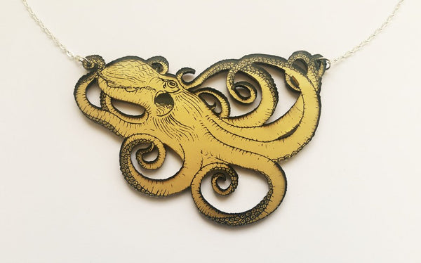 Octopus Necklace - Gold