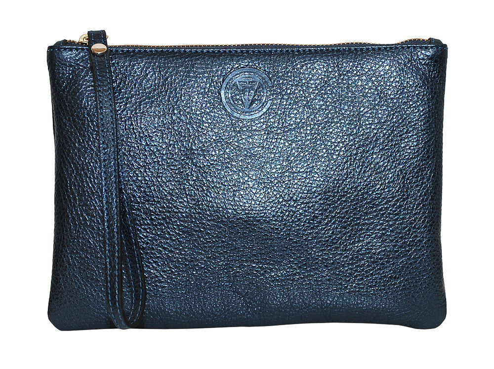 Essential Clutch - Metallic Navy