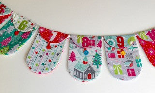 Christmas Advent Bunting: Free Tutorial