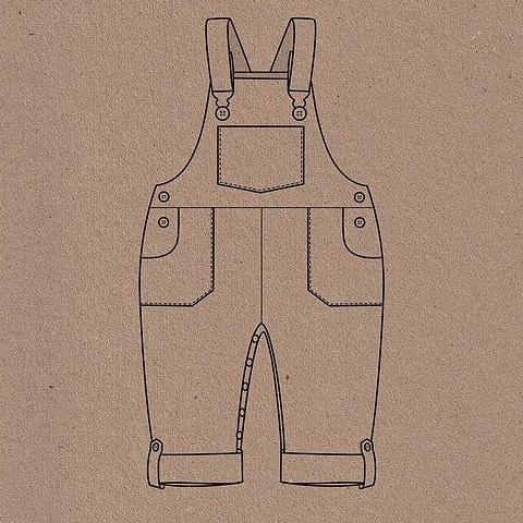 Two Stitches Patterns Frankie Dungaree