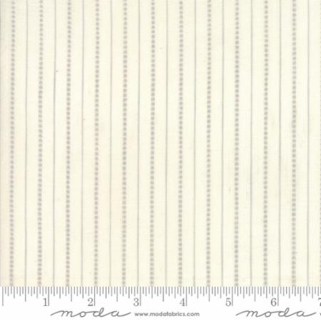 Behind The Scenes Woven by Jen Kingwell Grey Mist Dot Stripe on Cream