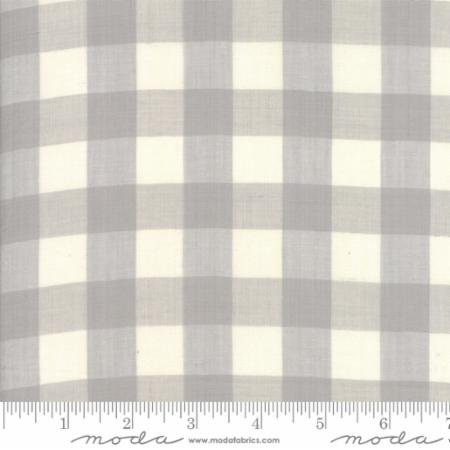 Behind The Scenes Woven by Jen Kingwell Grey Mist Large Checkers