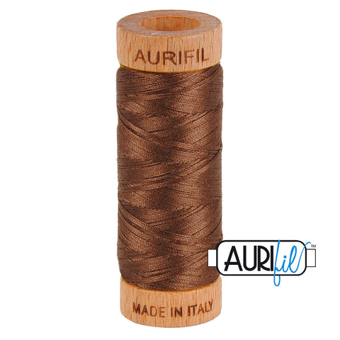 Aurifil Cotton 80wt #1285 Medium Bark