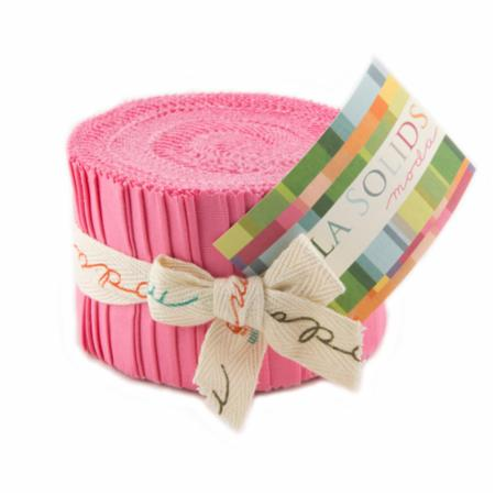 Bella Solids 30's Pink Junior Jelly Roll