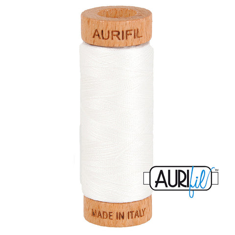 Aurifil Cotton 80wt #2021 Natural White