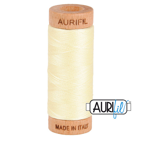Aurifil Cotton 80wt #2110 Light Lemon