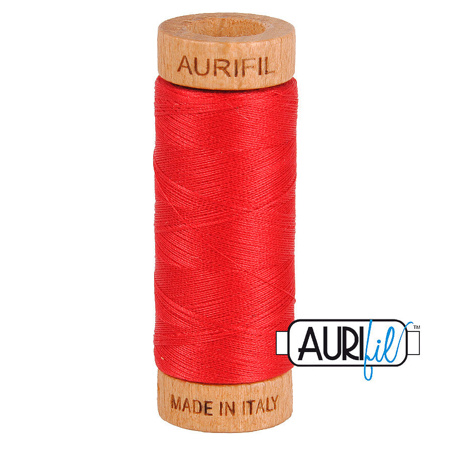 Aurifil Cotton 80wt #2255 Dark Red Orange