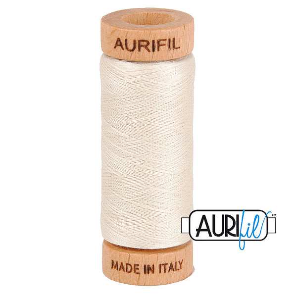 Aurifil Cotton 80wt #2309 Silver White