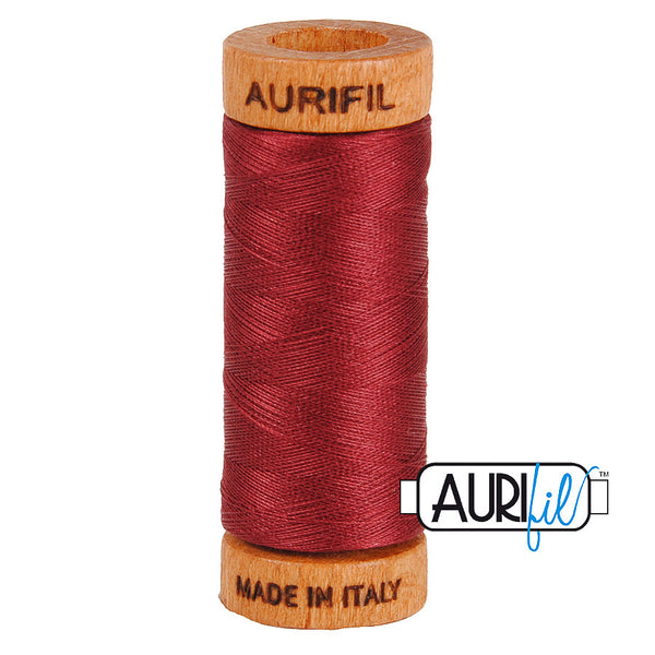 Aurifil Cotton 80wt #2460 Dark Carmine Red