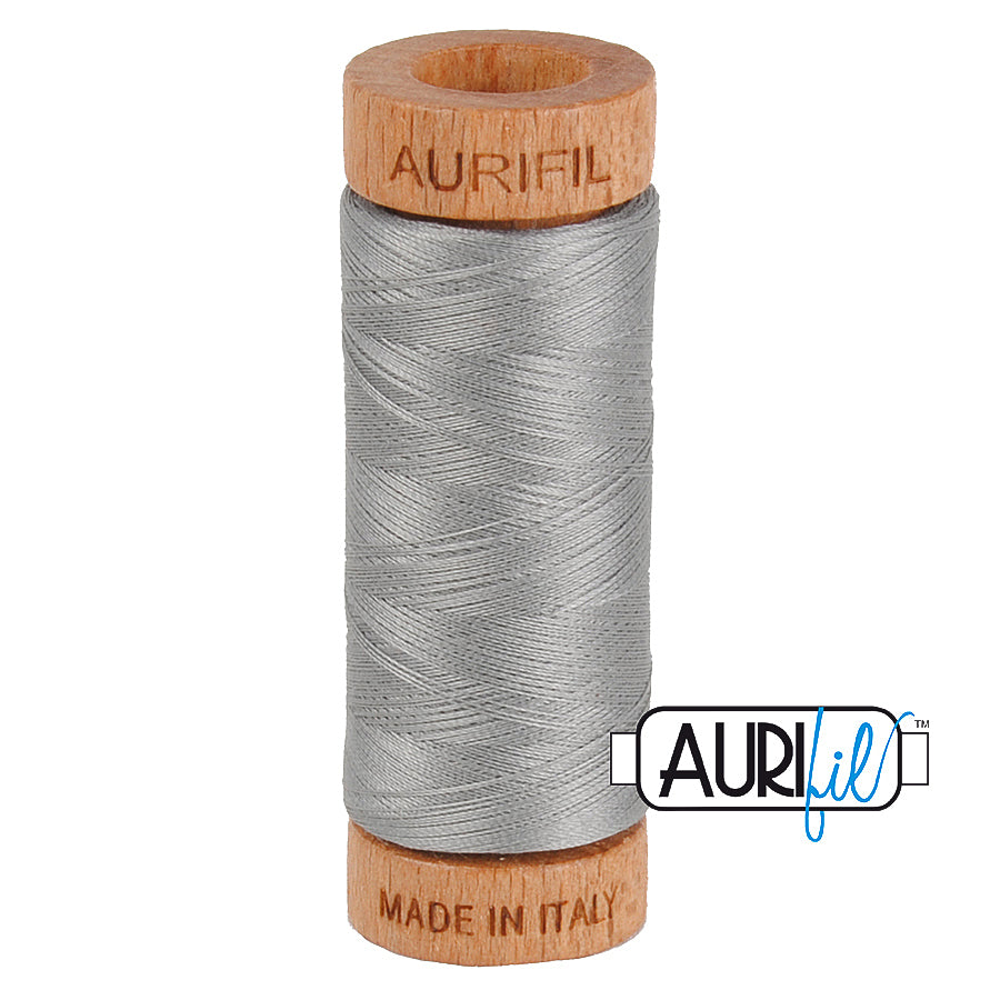 Aurifil Cotton 80wt #2620 Stainless Steel