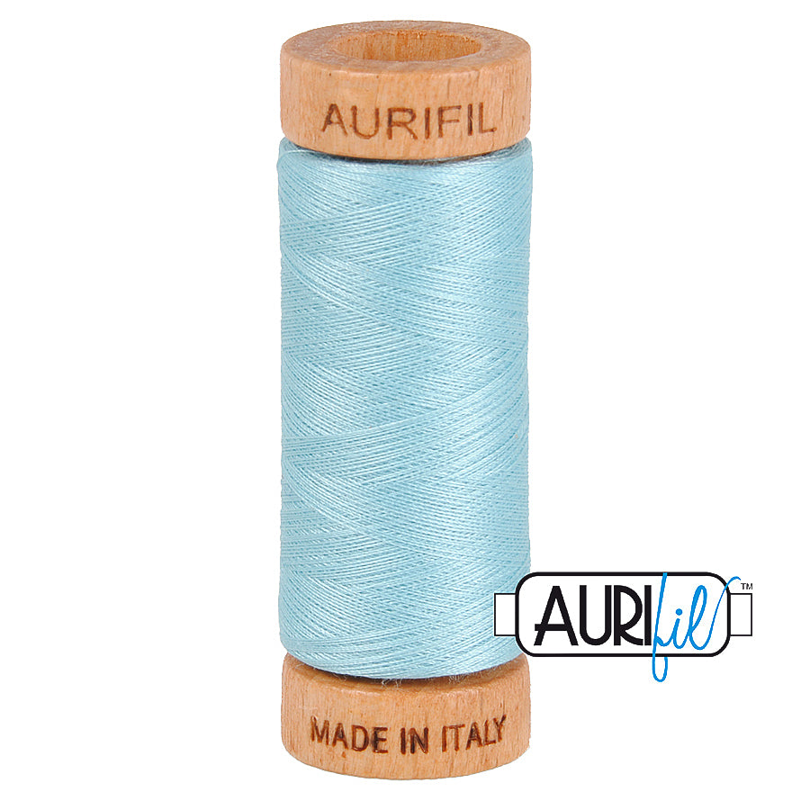 Aurifil Cotton 80wt #2805 Light Grey Turquoise
