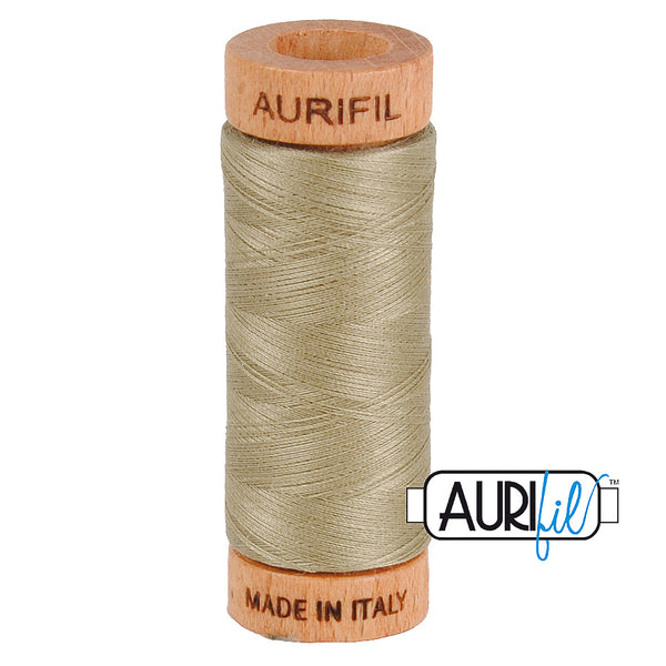 Aurifil Cotton 80wt #2900 Light Khaki Green