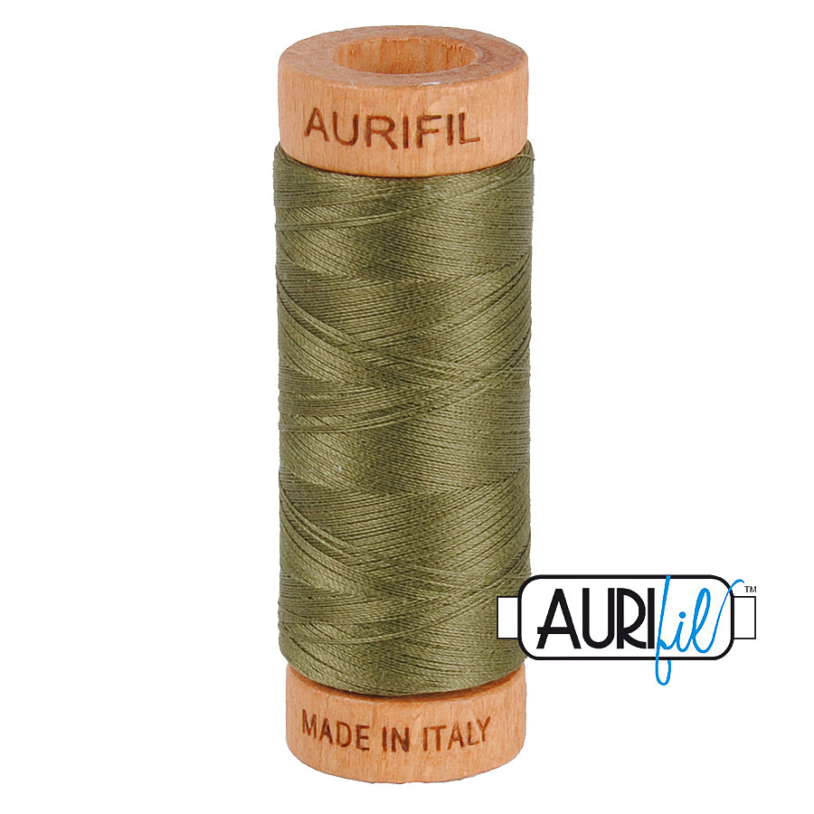 Aurifil Cotton 80wt #2905 Army Green