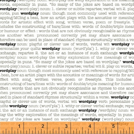 Word Play by Sarah Fielke World Play in White
