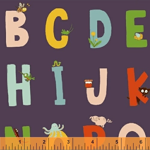 Kinder by Heather Ross Alphabet in Indigo