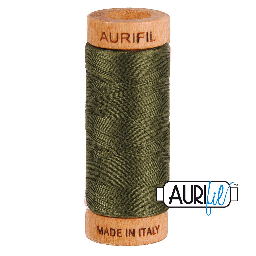 Aurifil Cotton 80wt #5012 Dark Green