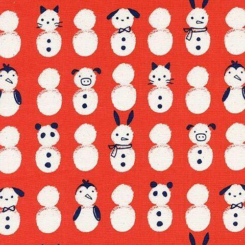 Noel by Cotton + Steel Snow Babies in Red