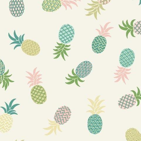 Tropicana by Lewis + Irene Pineapples on White