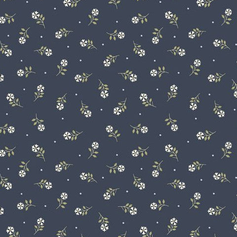 Flo's Little Flowers by Lewis & Irene Tiny Flowers Navy