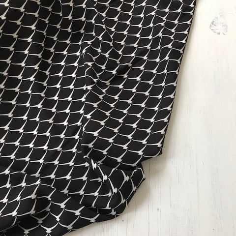 Wishing Bone Print Viscose Fabric