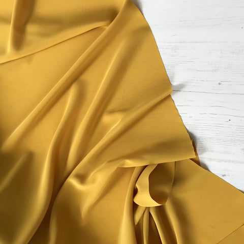 Peachskin Fabric in Mustard