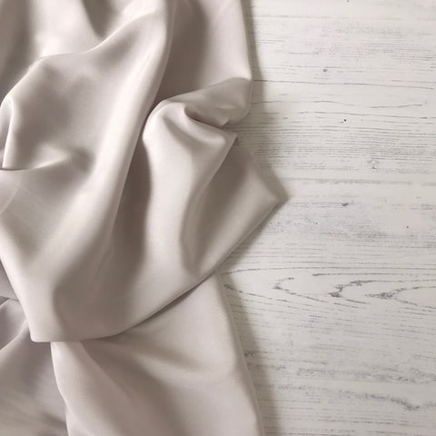 Peachskin Fabric in Palest Grey