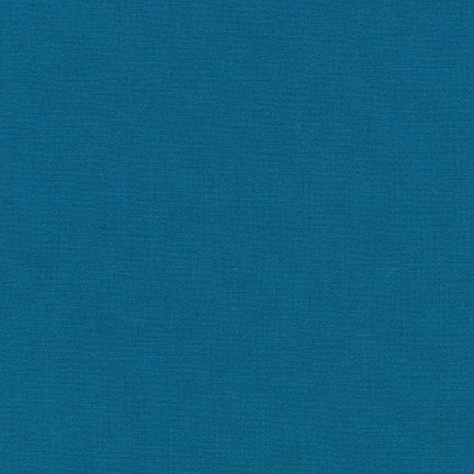 Kona Cotton Solids by Robert Kaufman in Teal Blue