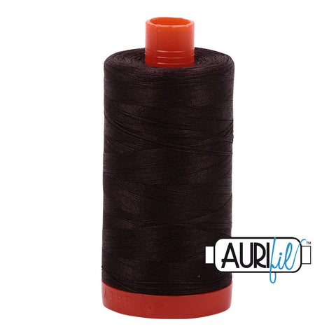 Aurifil Cotton 50wt #1130 Dark Bark