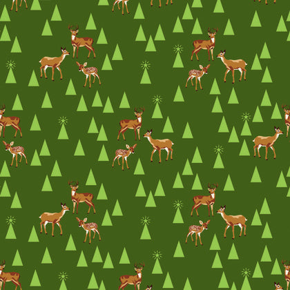 Holiday Homies by Tula Pink Bambi Life in Pine Fresh