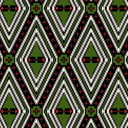 Holiday Homies by Tula Pink Family Tree in Pine Fresh