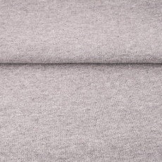 Jersey Ribbing in Light Grey Heathered