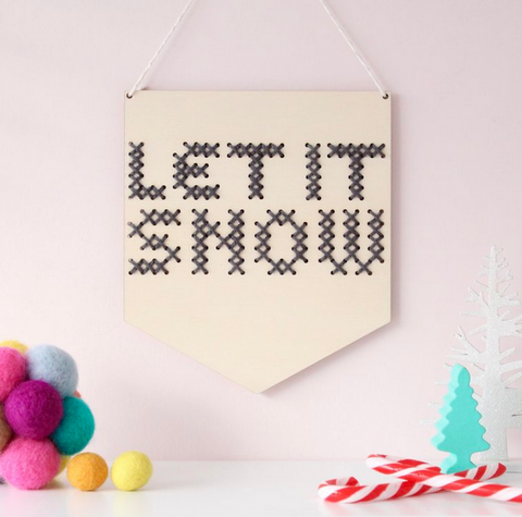 Let it Snow Christmas Cross Stitch by Cotton Clara