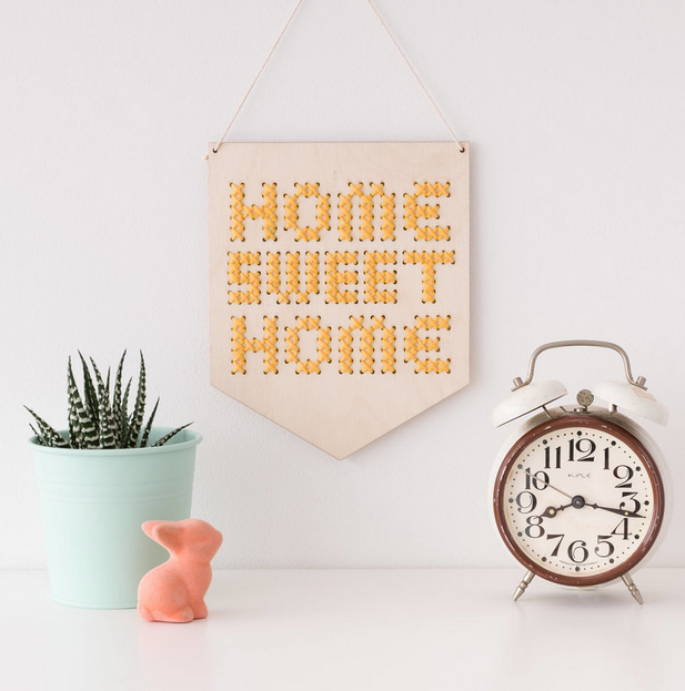 Home Sweet Home Cross Stitch by Cotton Clara
