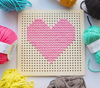 Grey Cross Stitch Pegboard Wall Art by Cotton Clara