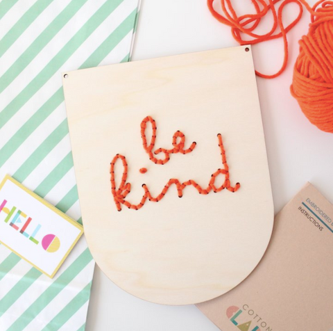 Be Kind Embroidery Kit by Cotton Clara