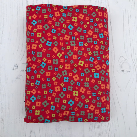 Small Quilt Back - Red Floral by Lecien
