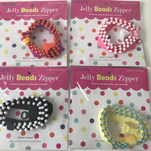 Lecien Jelly Beads Zipper - Various colours!