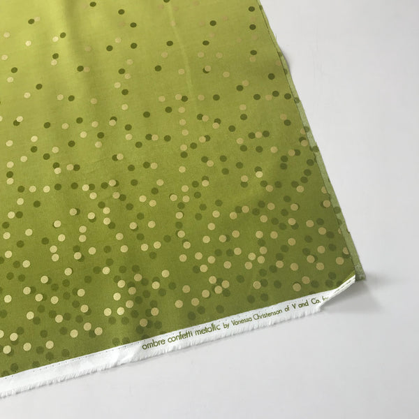 Ombre Confetti Metallic by V & Co. Lime Green