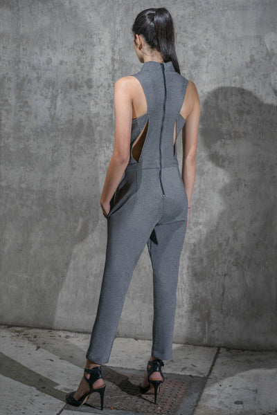 Cutout Ponte Knit Jumpsuit