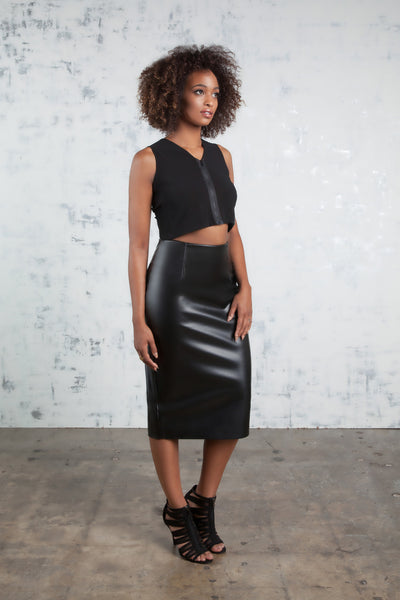 *Faux Leather Pencil Skirt SALE*