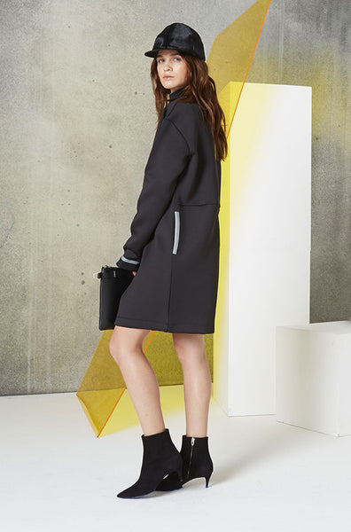 Reversible Jacket Dress (Unisex) in Black Side