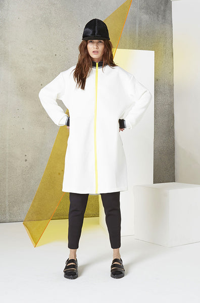 Reversible Jacket Dress (Unisex) in White Front
