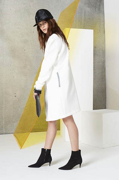 Reversible Jacket Dress (Unisex) in White Side