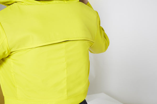 ctive Reversible Crop Jacket in Yellow & Black Back Detail