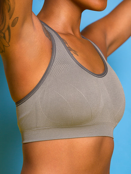 Revel PRO Sports Bra in Gray