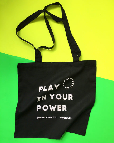 Mantra Tote Bags #playinyourpower