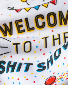 Welcome to the Shit Show Snapsuit (White) 3-Pack