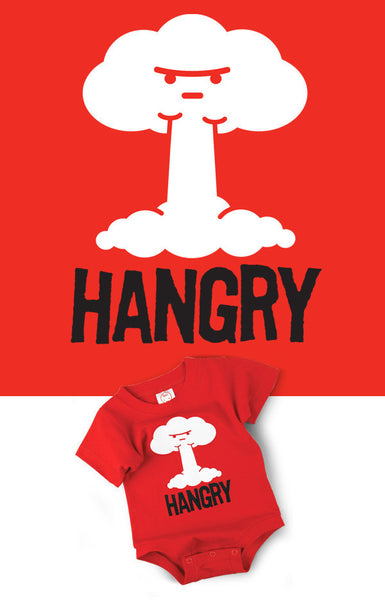 Funny Onesie Hangry Graphic
