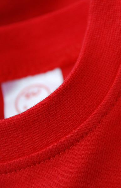 Red Onesie Quality Stitch